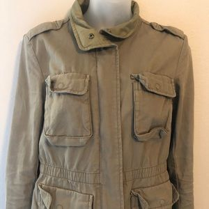 H&M Light Green Utility Military Jacket Si…